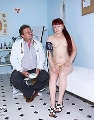 Nada receives special double dildo therapy during gyno exam
