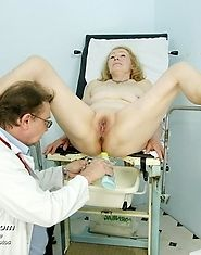 Granny Sofie still fucks young guys and needs gyno exam