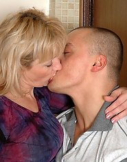 Lascivious mature gal getting humped in the bathroom by a horny washed stud