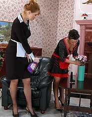 Old and young maids prefer playing slits and clits to boring daily chores
