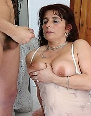 mature plumper sucks the cock