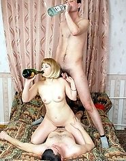 Boozed mature has sex lessons with two guys