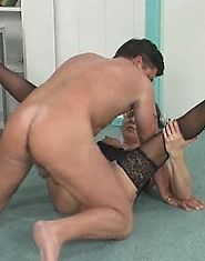 Brunette older woman spreads for cock