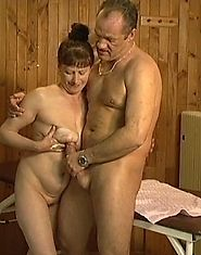 Sexy grandmother fucks her massage therapist