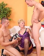 Hot mature cougar gets fucked by younger men