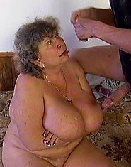 Big-titted fat grandma nailed by big firm cock