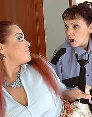 Mature lesbo on guard using special disciplining methods eating fresh slit