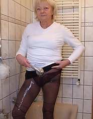 Blonde housewife taking a kinky shower
