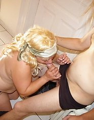This big blonde mature slut really loves the cock